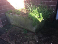bow fronted hand carved stone trough