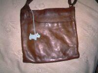 Brown radley leather cross body bag