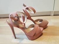 Brand new - never been worn - Office diamanté nude blush heels size 4