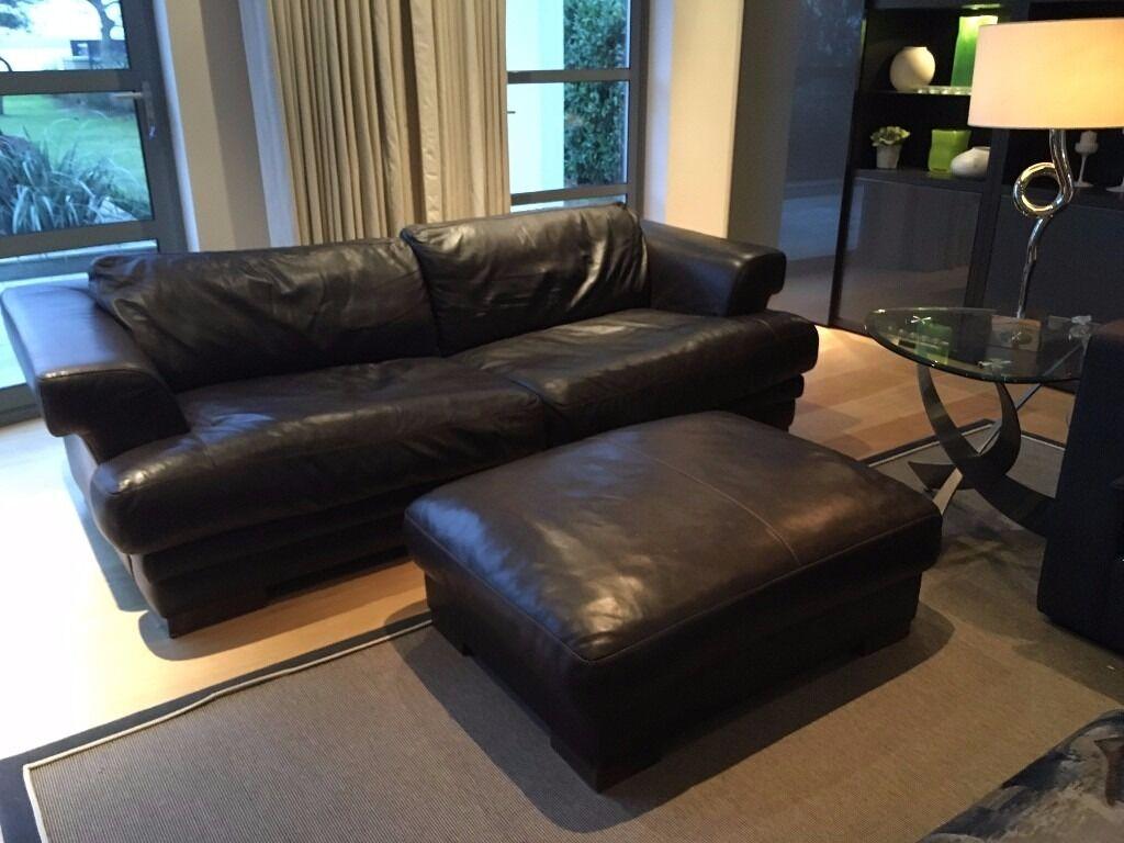 Giovanni Sforza Brown Leather Sofa Set