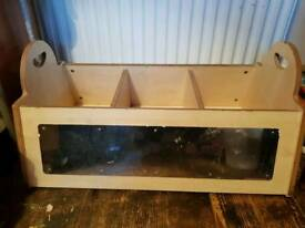 Solid Wood Toy Box Kids Storage Unit Book Box