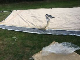 Spacesaver Caravan Awning c/w Extra Sun Canopy. Size 10-11. 900cm...