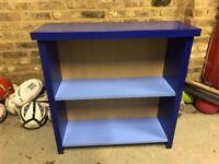 STURDY BLUE BOOKCASE