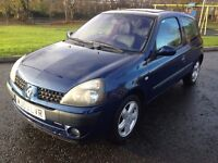 2003 Renault Clio Dynamique 1.2 Only 67,000 Miles! Supplied with 1 Year MOT!