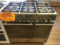 KENWOOD 90CM ALL GAS RANGE STYLE COOKER IN STIANLESS STEEL