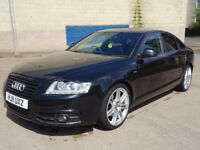 AUDI A6 2.0 TDI S LINE SPECIAL EDITION 4d 168 BHP FULL YEAR MOT + FULL BLACK LEATHER TRIM ++