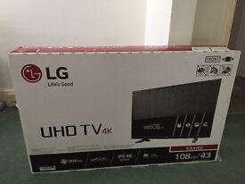 LG 43 inch Ultra HD TV