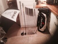 Golf clubs-Nike Driver-Ping 3 Wood-Ping Irons-Ping Putter-Golf Bag-Ping Umbrella-New Golf Glove&more