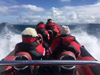 SEATS AVAILABLE TO THE ISLE OF MAN TT MOTORCYCLE RACES ON AN 8M RIB BOAT