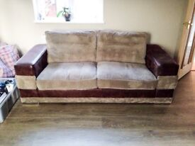 Large Brown Two Seater Sofa