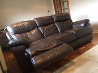 Comfortable reclining sofa