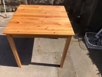 Pine table 75cm x 75cm