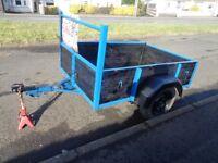 CAR TRAILER 6ft x 4ft EXCELLENT CONDITION £330