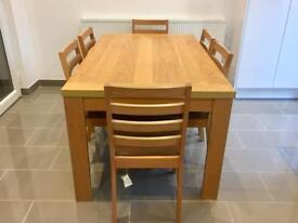 Dining kitchen table. Wooden table for 6 people