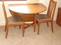 Gateleg dining table and chairs