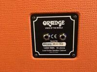 Orange PPC212OB 2x12 Open Back Cabinet (USED).