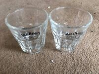 Jack Daniel's Shot Glasses Pair Old No. 7 Brand Glassware