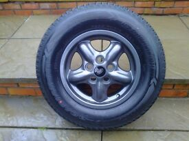 ALLOYS X 5 OF 16 INCH GENUINE DISCOVERY 2 FULLY POWDERCOATED INA STUNNING ANTHRACITE WITH NEW TYRES