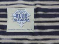 Blue Diamond Wind Break 550cm x 150cm - Blue and White Stripe