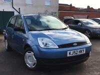 Ford Fiesta 1.3 2003 + FULL SERVICE HISTORY + MOT TILL NOV 2017 + DRIVES SUPERB