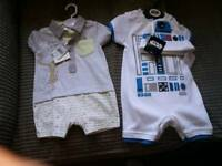 Baby summer outfits £6 for both
