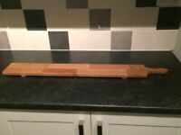 Long serving cheese board - natural hardwood never been used