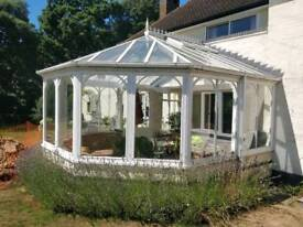 Hard wood double glazed conservatory