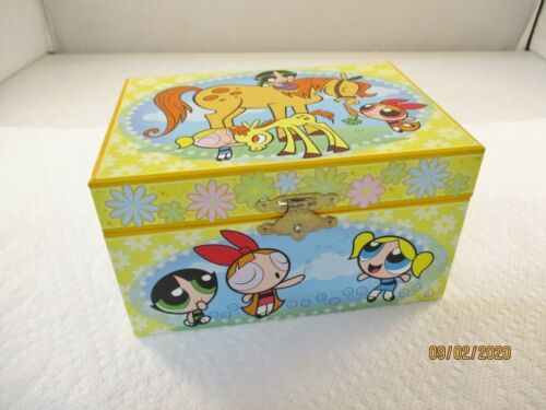 Vintage Powerpuff Girls Musical Jewelry Box - Cartoon Network