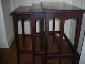 Nest of Rosewood Tables