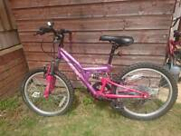 Girls Apollo bike full suspension bike 6 gears