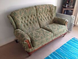Late Victorian/Early Edwardian Sofa and Armchair