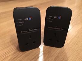 BT broadband powerline adapters. Extender Flex 500