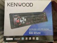Kenwood Bluetooth USB CD car radio. Used in original box. Offers over £50 due to condition