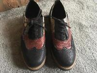 Aldo men's casual leather shoes coloured Size 8/42 used in good condition £10