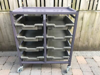 Gratnells tray racking unit