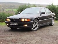 BMW 740i 1998 Black - 12 months MOT - Very good overall condition - Low mileage - Full Leather Int.