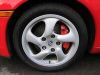 "PORSCHE GENUINE 17"" BOXSTER S ALLOY WHEELS WITH BRIDGSTONE POTENZA TYRES"