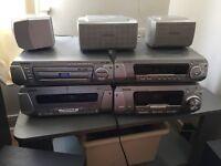 TECHNICS STACK DVD 5 disc CD player