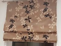 Roman blinds capuccino colour