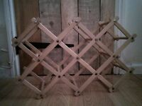 Wooden Foldable Wine Rack