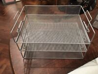 SET OF 3 A4 METAL MESH FILING TRAYS