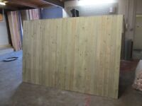 8ft wide wooden drive gates for sale fully treated