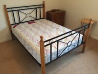 Metal ad Wood Double Bed Frame