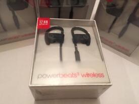 NEW SEALED Beats by Dre Powerbeats 3 Wireless Earphones (Black) - UNLOCKED ONO