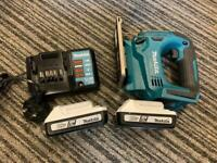 Makita jigsaw with 2 batteries and charger