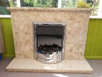Elecrtic fire and surround