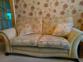 Settee, armchair and footstool