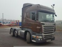2013-13 plate scania r440 highline auto 6x2 midlift tractor unit great spec low klms plus vat