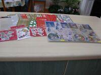 Bundle of Christmas Card craft items