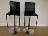 John Lewis Black PU leather bar stools